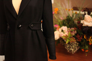 Black wool womens jacket