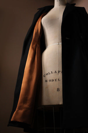 Wool jacket with silk lining