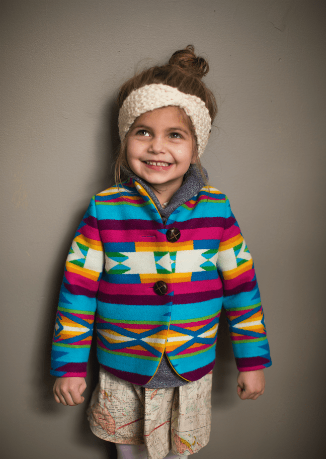 Colorful Rainbow American Wool Kids Jacket