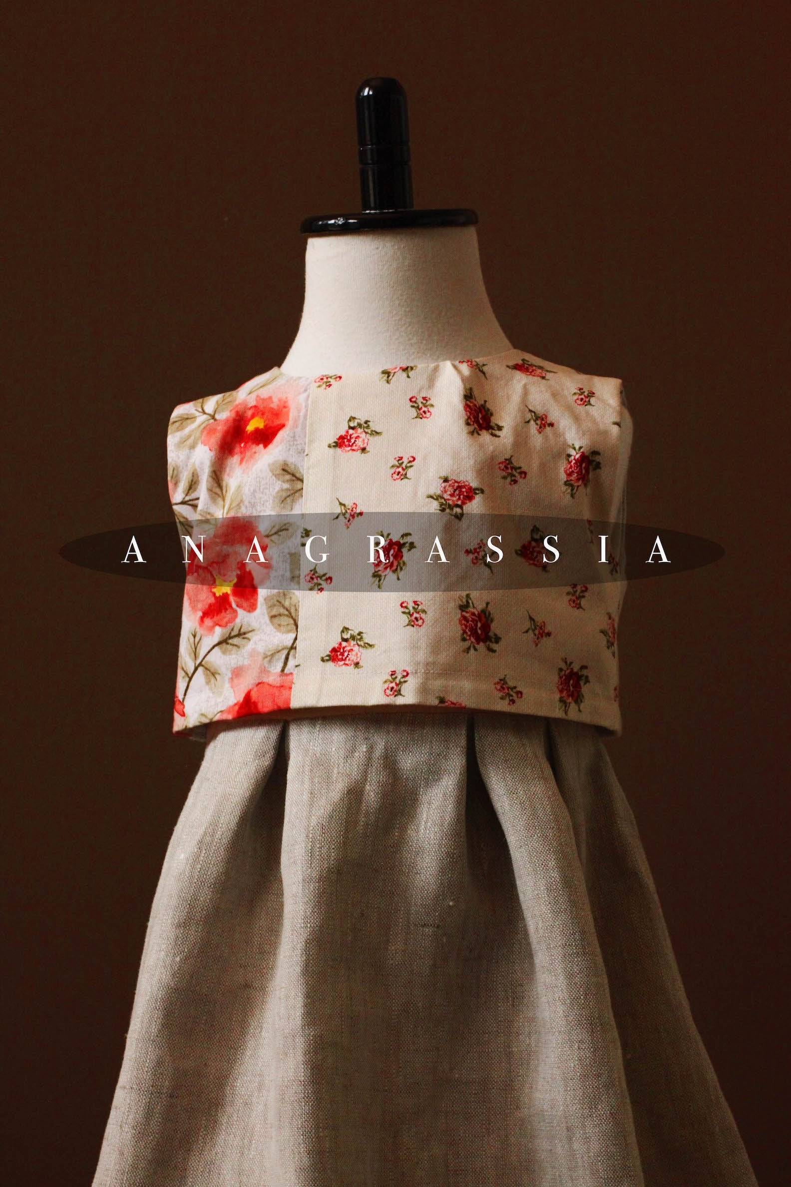 vintage girls dress linen