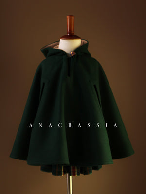 Green wool cape