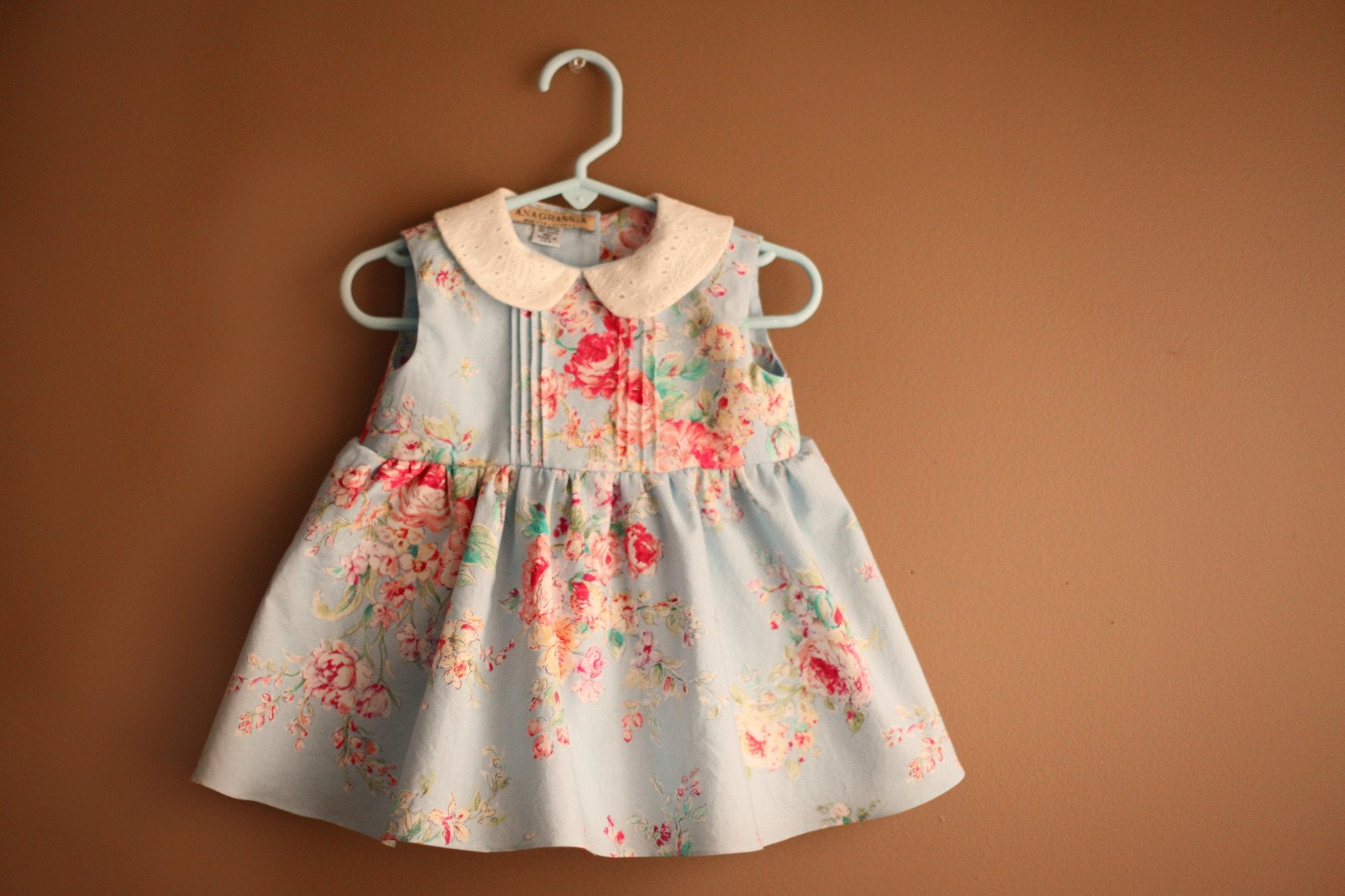 Anagrassia Light Blue Rose Floral Dress