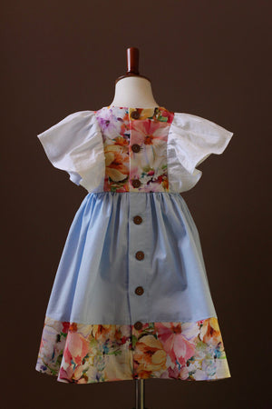 light blue girls dress