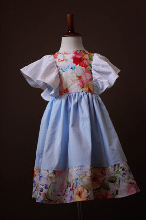 light blue pinafore dress