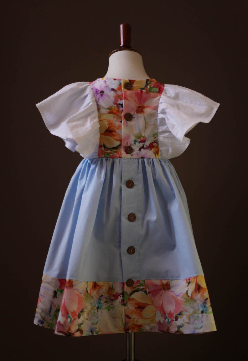 pinafore light blue dress