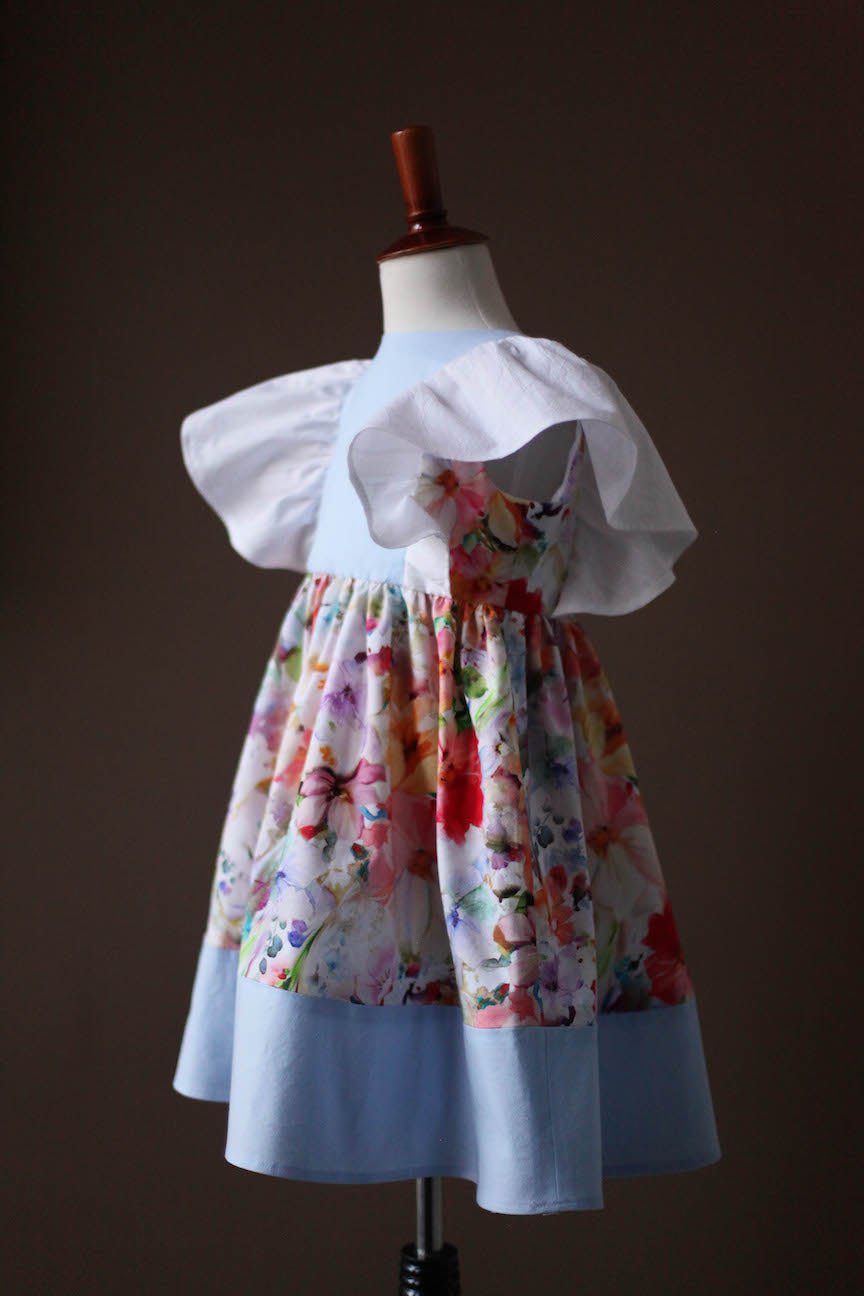 floral pinafore girls dress