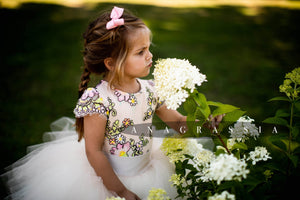 luxury flower girl dress