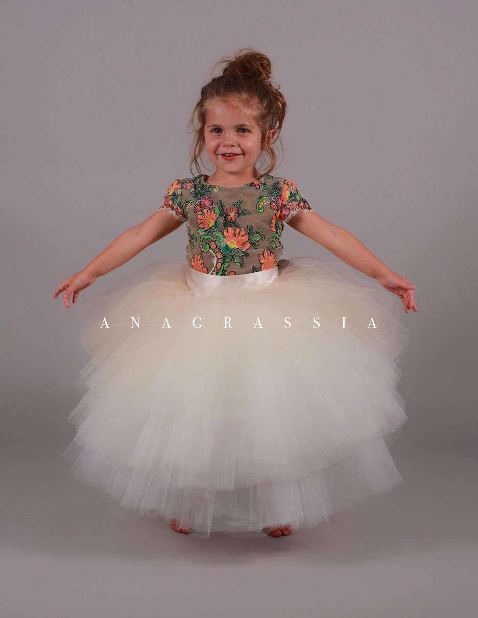 tulle skirt flower girl lace leotard bodysuit