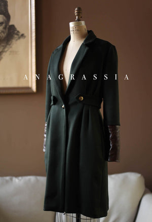 womens green wool coat