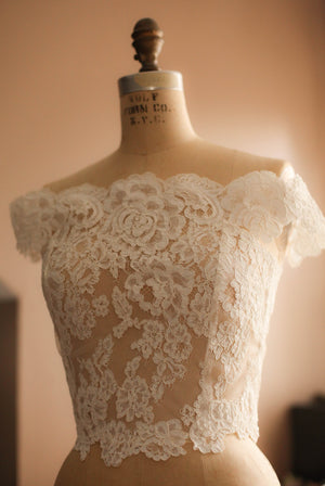 lace wedding topper