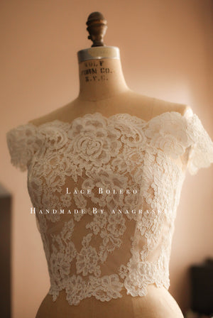 weding dress lace topper