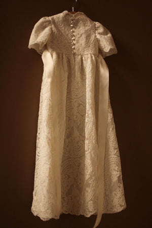 girls lace baptismal gown