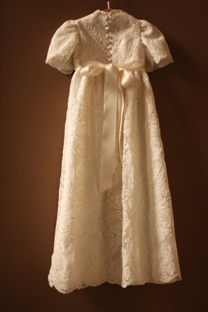 lace baptismal gown