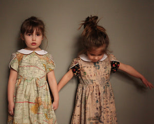 Cotton Vintage Handmade Girls Dresses Collar Pinafor Well Dressed Wolf Bug Floral Harrods Princess Charlotte Bergdorf Goodman