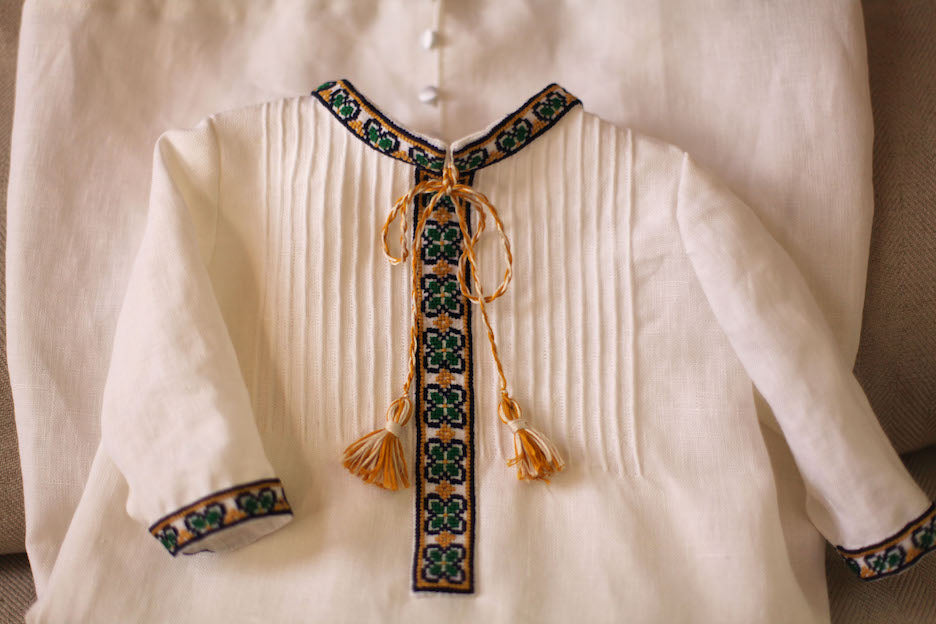 Celtic Embroidery Gown