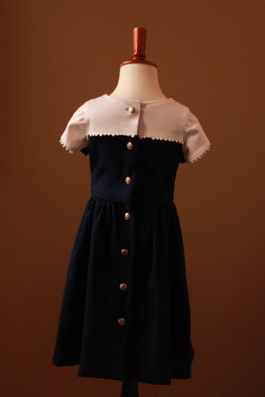 sailor dress with sleeves