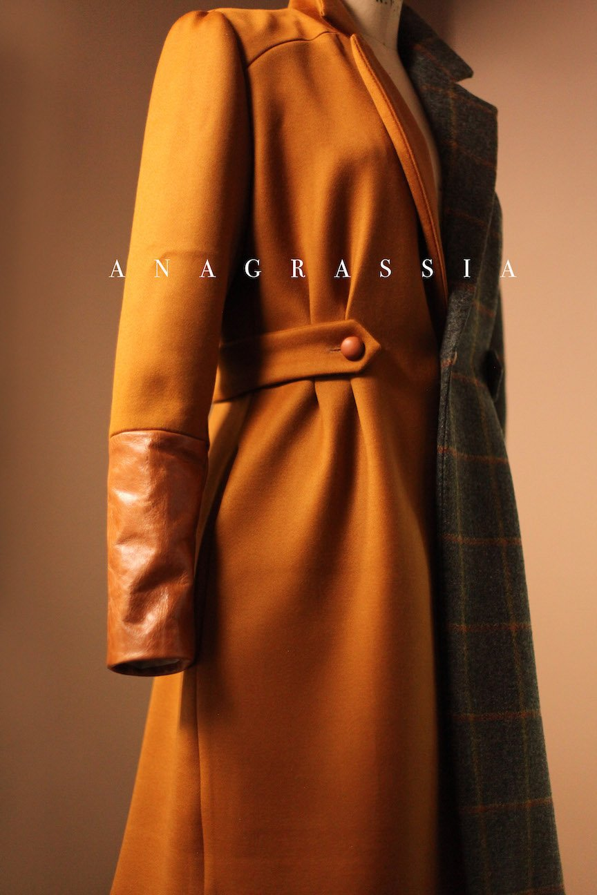 gold wool coat
