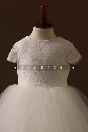 white lace communion dress