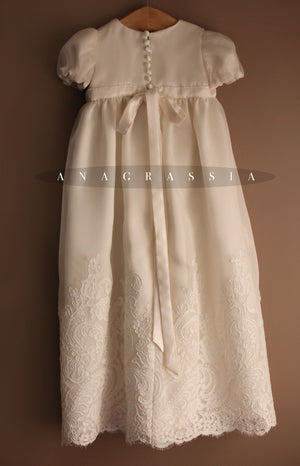 girls silk baptismal gown