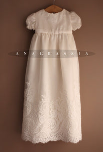 silk lace christening gown