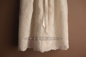 Christening silk gown