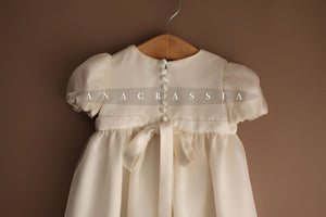 girls silk christening gown