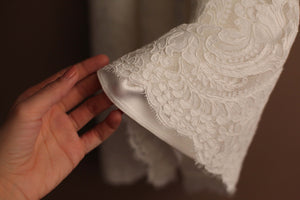 French lace baptismal gown