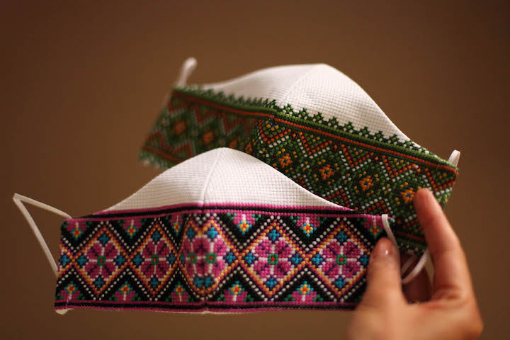 Ukrainian embroidered face masks