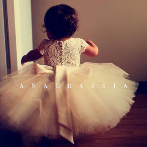Tulle Skirt Flower Girl Dress