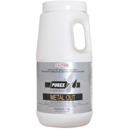 Metal Out-Chemical-Purex-Budget Pool Care