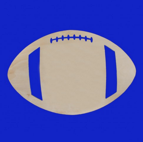 Easy Elegance Gifts - Football Wood Cutout