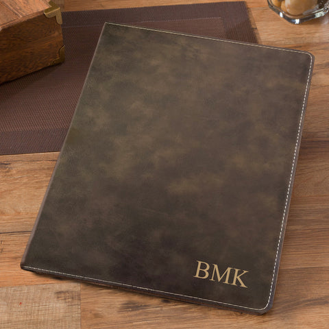 Simulated Suede Leather Portfolio - Rustic