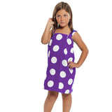 Easy Elegance Gifts - Kids' 100% Cotton Velour Spa Wrap With Shoulder Straps - 5