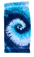 "Easy Elegance Gifts - Cotton Tye Die Velour Beach Towels (30"" x 60"") - 1"