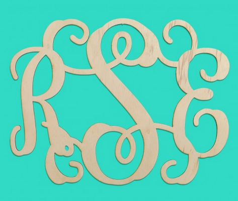 Easy Elegance Gifts - Wood Monogram--3 Initials