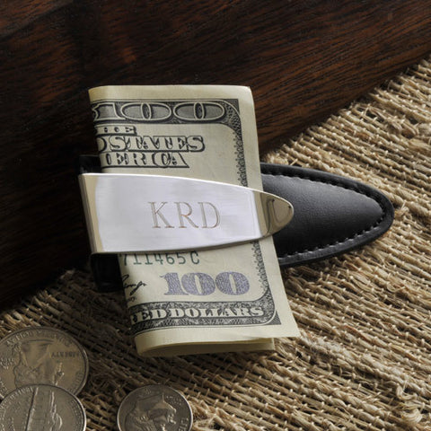 Easy Elegance Gifts - Personalized Leather Easy Fit Money Clip
