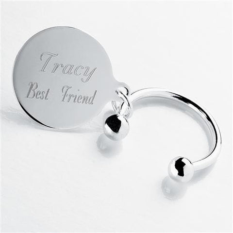 "Easy Elegance Gifts - ""Tiffany-Style"" Engraved Keychain"