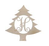 Easy Elegance Gifts - Christmas Tree Wood Monogram - 2