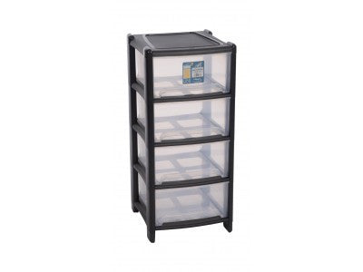 Plastic Drawers - 4 Drawer Tower - Chaffinch Student Living - Student Essentials Packs
