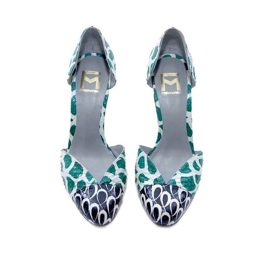 Watersnake Green Pumps Arlette Fred Marzo - Fred Marzo