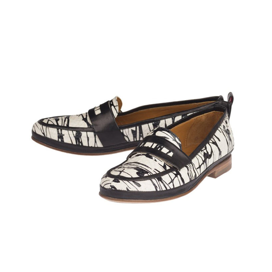 Women printed leather loafers Jour Ferie Paris - Jour Ferie Paris