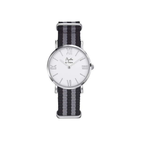 Women Designer Watches Grey Nylon Bracelet Menthe A l'Eau