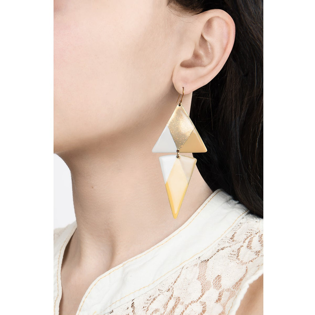 Large triangle earring - Little Woman Paris