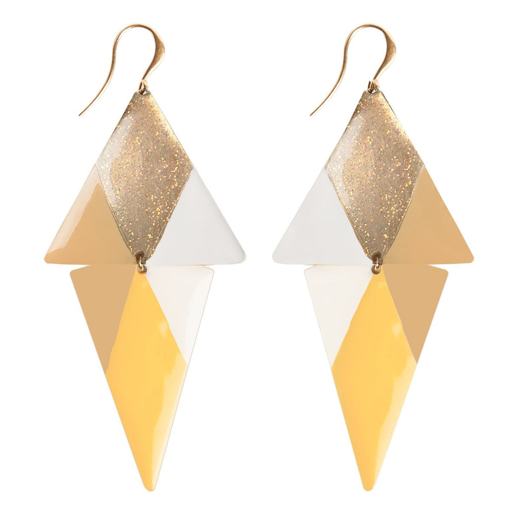 Large triangle earring Little Woman Paris - Little Woman Paris