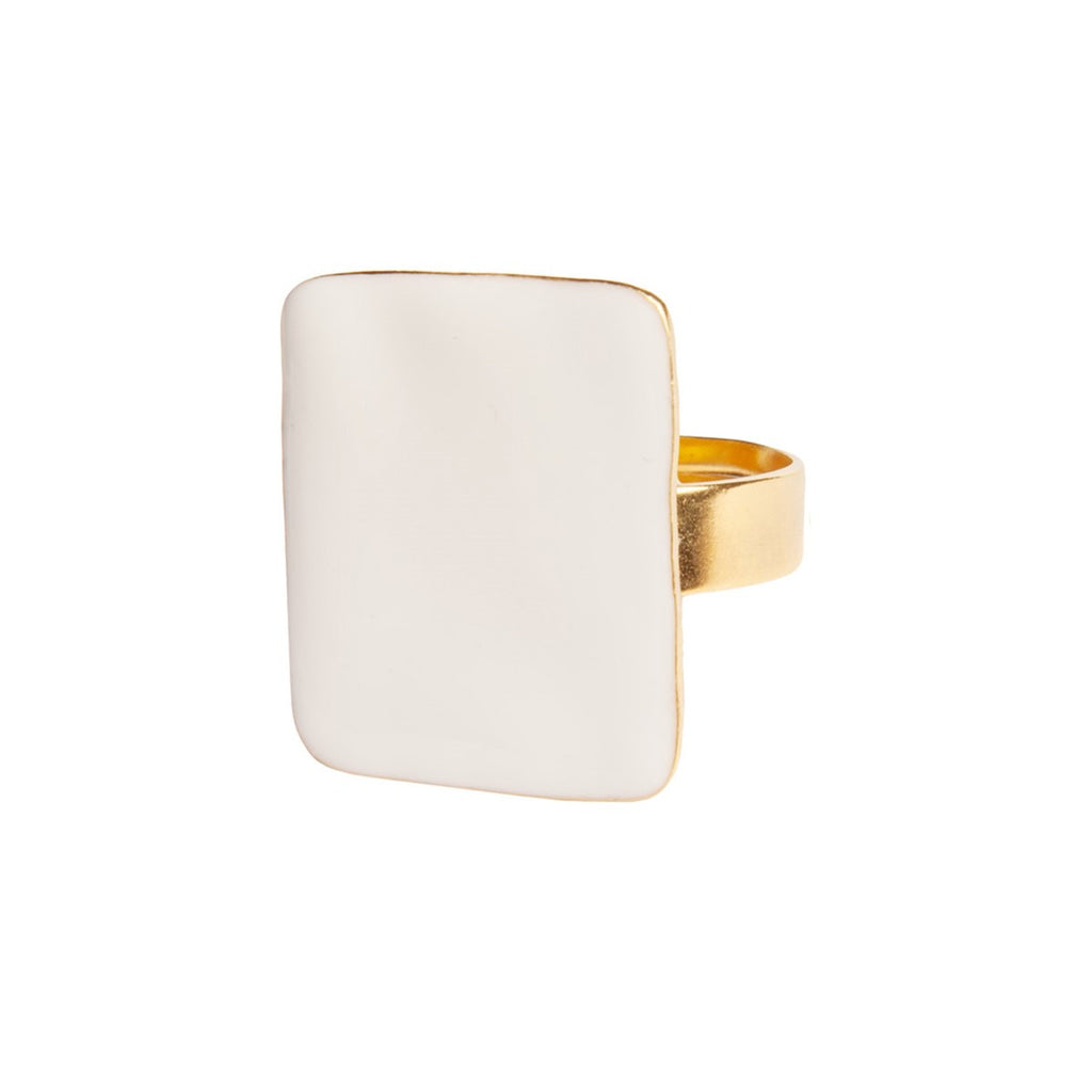 White square ring - Little Woman Paris