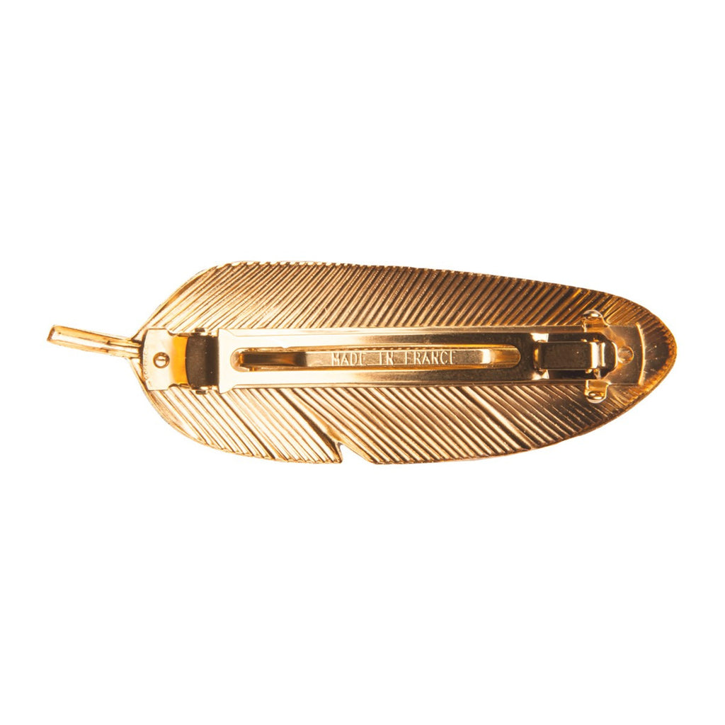 Black Feather Barrette Little Woman Paris - Little Woman Paris