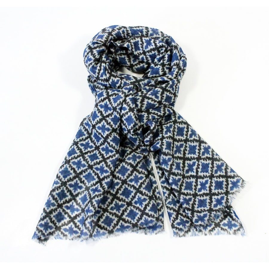 Wool Louise Scarf Blue - Le Secret des Eléphants