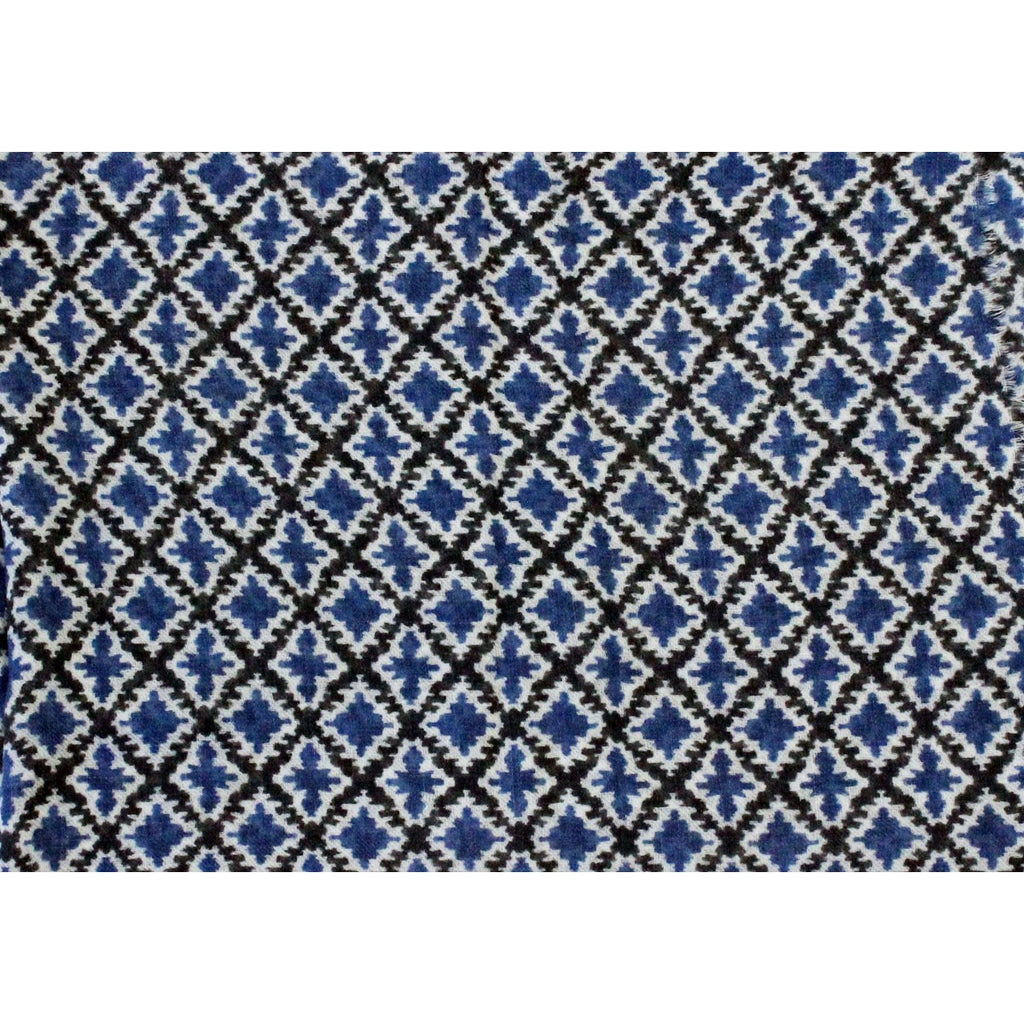 Wool Louise Scarf Blue