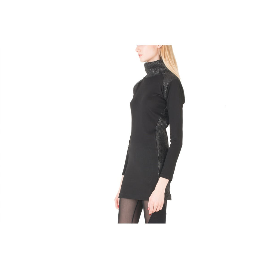 Turtleneck tunic black dress EON Paris - EON Paris