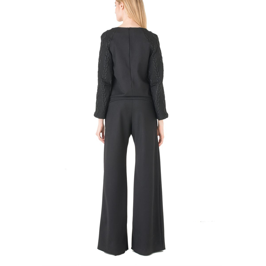 Raglan Sleeves Black Jumpsuit EON Paris - EON Paris